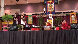 HH Sakya Trichen Rinpoche Cultural Exchange Santa Fe Indian School - Frankie & Lauren Maestas