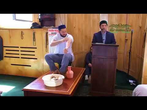 Омовение с желательными действиями и молитвами по мазхабу имама аш ...