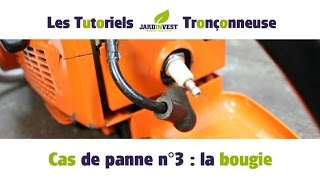 [Cas de panne Tronçonneuse n°3] : Remplacement et entretien de la bougie de tronconneuse
