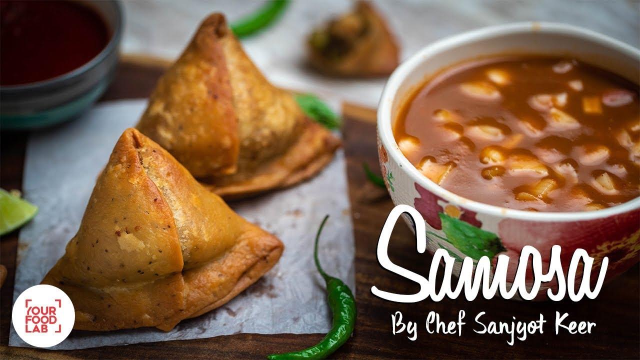 Khasta Samosa Recipe with imli Aur pyaaz ki chutney | Chef Sanjyot Keer