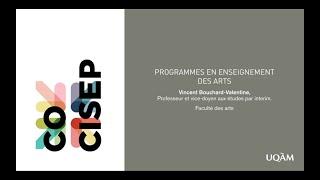 Programmes en enseignement des arts