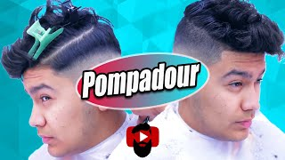 Disconnected Under Cut ✂ Slicked Back Pompadour | Barber Tutorial | Thinning Shears | Kv7