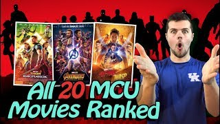 All 20 MCU Movies Ranked (Including Ant-Man and the Wasp)