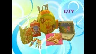 5 DIY Миниатюрные школьные принадлежности Рюкзак Фиксики Miniature school supplies