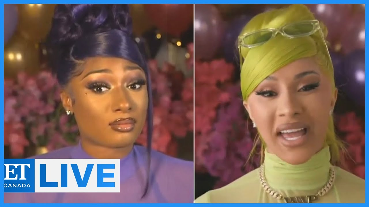 Cardi B Megan Thee Stallion Talk Wap Et Canada Live Youtube
