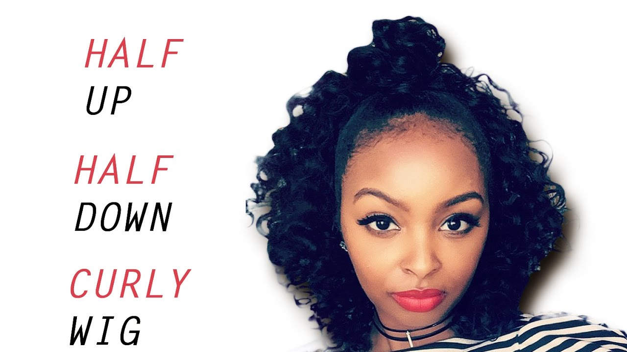 Half Up Half Down Short Curly Protective Hairstyle
