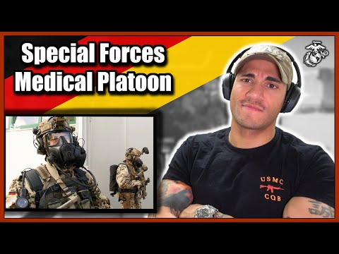 US Marine reacts to German Special Forces Medical Platoon