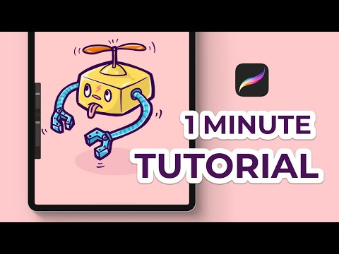 How To Draw A Cartoon Style Character In Procreate (Tutorial)
