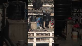 Kneading Dough from his feet. 'Kake Da Hotel'  Connaught place New Delhi thumbnail