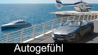 Mercedes style Luxury yacht Arrow460-Granturismo & Airbus Helicopter H145 with S500 Cabriolet