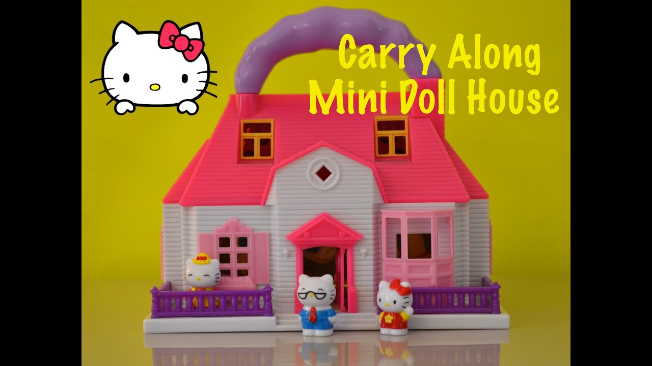 Hello Kitty Mini DollHouse Carry Along Play Set Casa de Muñecas