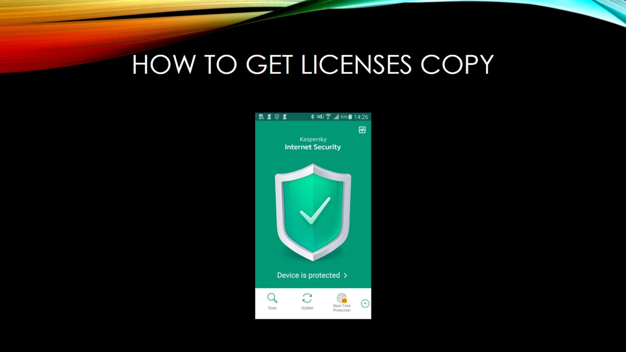 Free Serial key Kaspersky internet security for Android device