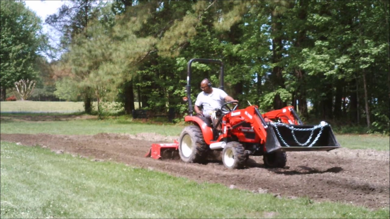 Branson 2400h Tilling and Mowing