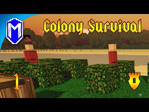 Colony Survival - Getting Started On Our New Island Home - Let's Play Colony Survival Gameplay Ep 1