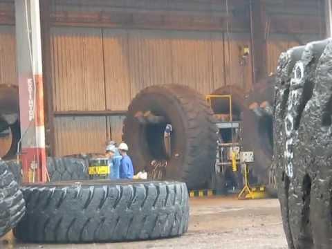 Repairing Giant Mining Tires
