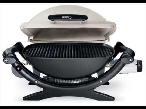 electric barbecue grills weber 386002 q 100 portable youtube. Black Bedroom Furniture Sets. Home Design Ideas