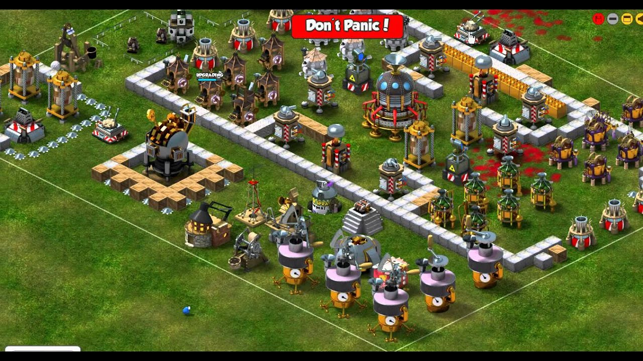 how aerial defense tower attack in backyard monsters youtube