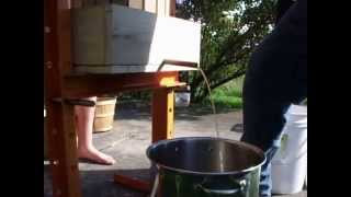 Making Apple Cider With Our Chipper Shredder And A Shop Press