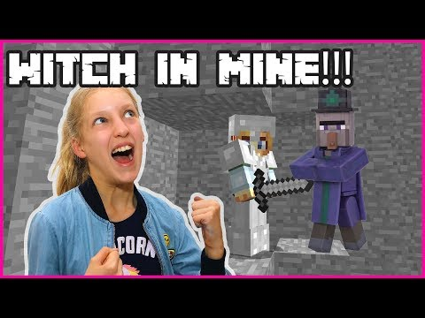 Fighting a Witch in the Mines!