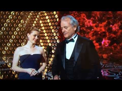 Bill Murray gives respect to Harold Ramis at The Oscars.
