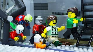 Lego Zombie Apocalypse School Attack: Survival of The Dead | Lego Stop Motion Animation