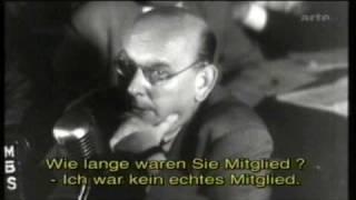 Hanns Eisler 1947/48 vor dem McCarthy Ausschuss für unamerikanische Umtriebe