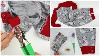 How to insert Snaps into a Romper | Snap fastening | Snaps  | Sewing | Learn to Sew