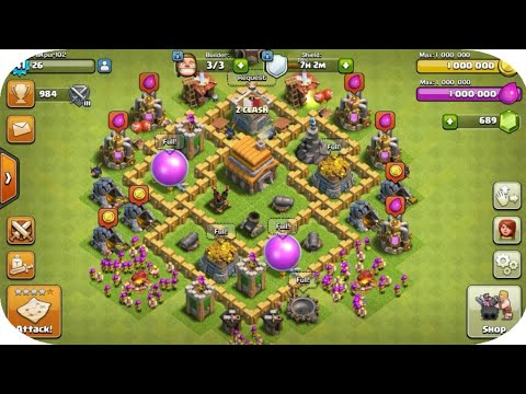 MAXED OUT TOWN HALL 5 BASE CLASH OF CLANS (COC)