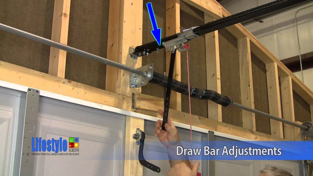 how to adjust garage door openerLifestyle Screens Garage Door Adjustments  Opener Draw Bar and