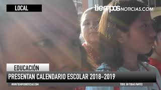 PRESENTAN EL CALENDARIO ESCOLAR 2018-2019