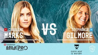 Caroline Marks & Stephanie Gilmore Battle to Finals at lululemon Maui Pro