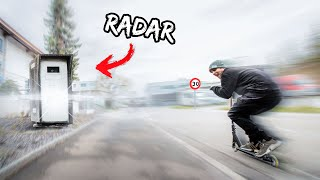 SE FAIRE FLASHER PAR UN RADAR EN TROTTINETTE !!! 😱