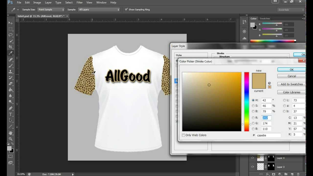 Designing T Shirts In Photoshop: How to design a T-shirt in Photoshop - YouTuberh:youtube.com,Design