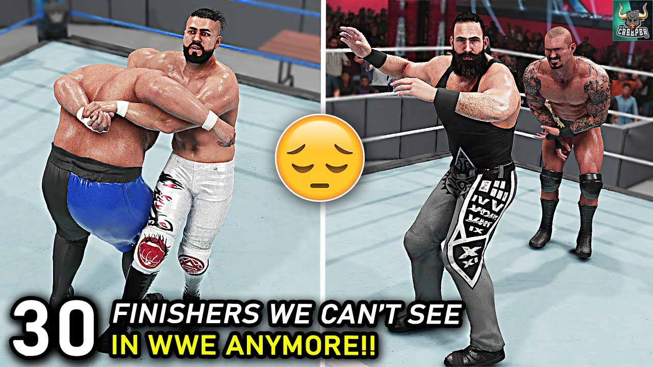 Top 30 Finishers We Can't See In WWE Anymore!! WWE 2K22 Countdown