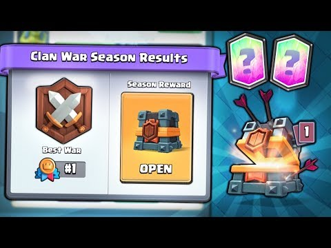 *NEW* FIRST EVER 1st PLACE CLAN WAR CHEST OPENING x2 | Clash Royale | DID WE GET A LEGENDARY?!