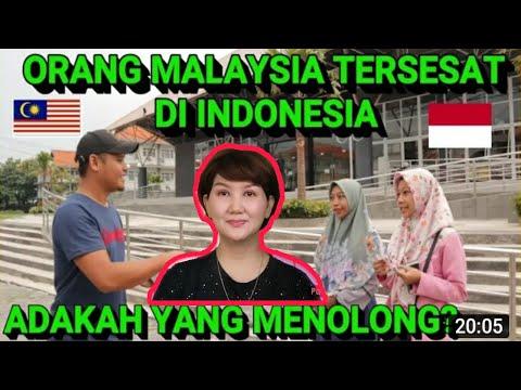 Reaction ORANG MALAYSIA TERSESAT DI INDONESIA. APAKAH REAKSI MEREKA . ||Social Experiment