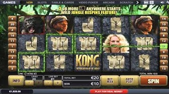 FREE King Kong slot machine game preview by Slotozilla.com