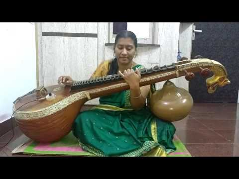 Ee sanje song of rangitaranga movie played on veena by geetha c kumar