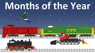 Months of the Year with Trains - The Kids' Picture Show