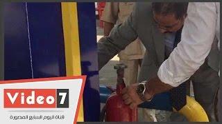 بالفيديو.. الرقابة الإدارية تكشف تلف طفايات الحريق بمحطة وقود فى مدينة نصر