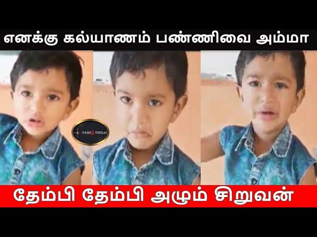 எனக்கு கல்யாணம் பண்ணிவை அம்மா   TamilThisai   Kerala   Little Boy   Viral Video  