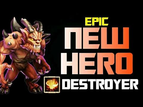 Castle Clash New Hero Destroyer!!!!