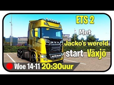 Euro Truck Simulator 2 MP We Starten in Växjö (S) EU3 Realistisch Rijden!