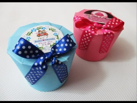 DIY : #168 Paper Cup - Door Gift Box ❤