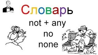 Словарь к видео уроку Отрицания 'not + any /no / none'
