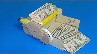How to make a money counting machine using cardboad