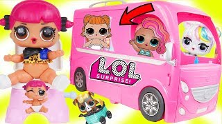 Custom LOL Surprise Dolls Play at Barbie Camper Mobile with Unicorn...