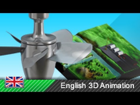 Kaplan turbine / Run-of-the-river hydroelectricity - How it works! (Animation)