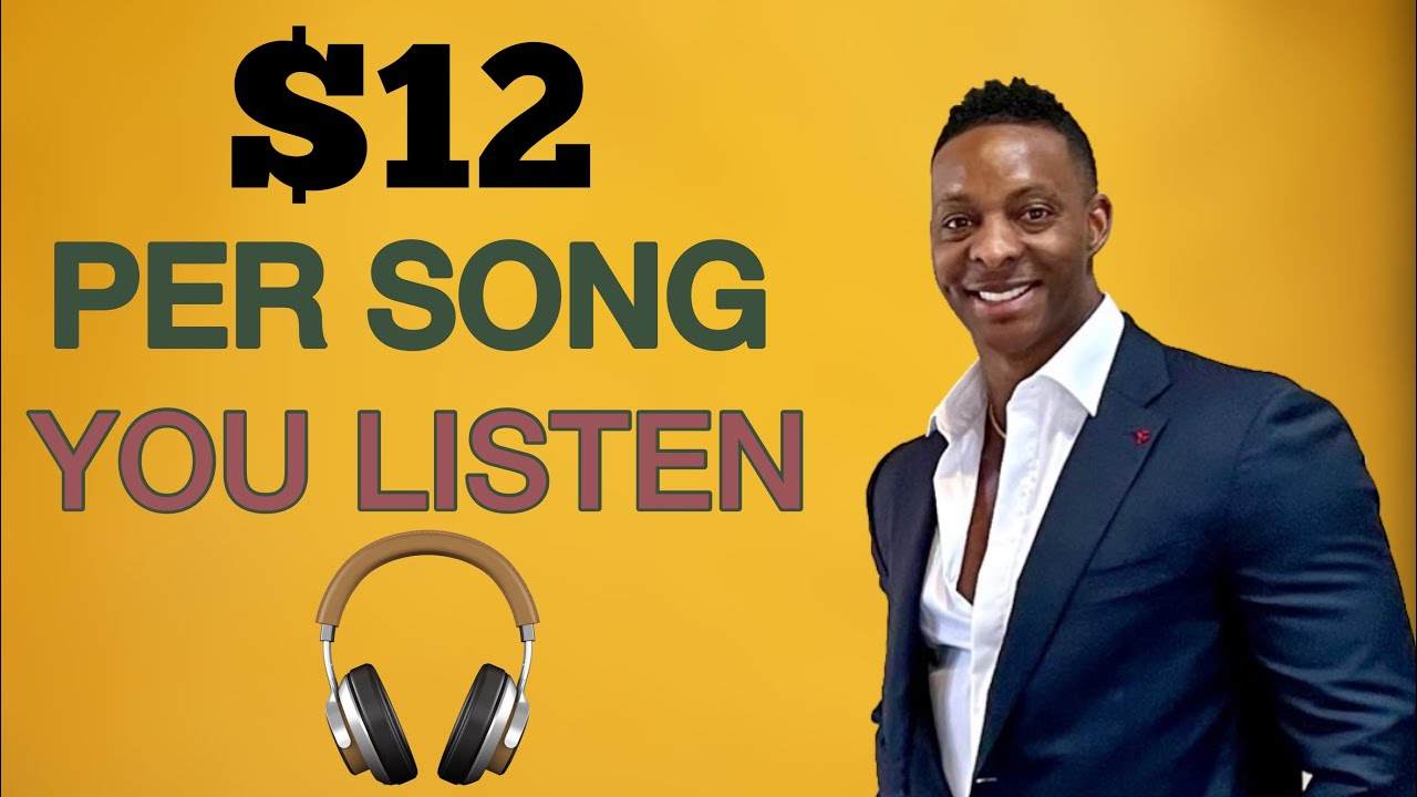 NEW RELEASE 2021 Earn 1200 Every SINGLE Song YOU Listen Make Money Online