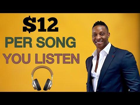 (NEW RELEASE 2021!) Earn $12.00+ Every SINGLE Song YOU Listen?!! Make Money Online